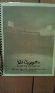 My new scorebook for the 2012 arrived last week