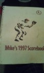 My first scorebook with the Prince William Cannons in 1997