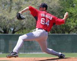 Anthony Ranaudo was named the Eastern League's Best Right-handed Pitcher of the Year.