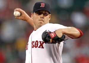 John Lackey is currently on Boston's 15-day disabled list with a strained right bicep.
