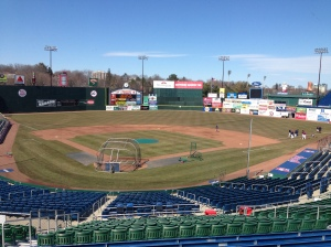 Pre-Game scene at Hadlock Field.