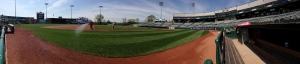 Panoramic view of Arm & Hammer Park.