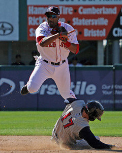 Tony Thomas isn't turning double plays anymore, he's been a full-time outfielder in Portland (photo courtesy of Kelly O'Connor of Sitting Still Photograph).