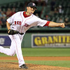 Tommy Hottovy pitching with the Red Sox in 2011 (photo courtesy of Kelly O'Connor of Sitting Still Photography)