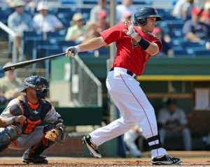 Travis Shaw has a six-game hitting streak entering tonight's game. (photo courtesy of Kelly O'Connor - Sitting Still Photography).