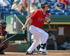 Travis Shaw is 6-for-9 in his last two games. (photo courtesy of Kelly O'Connor of Sitting Still Photography)