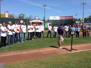 The Sea Dogs kicked off the Strikeout Cancer in Kids Program earlier today...This is the 19th year of the program.