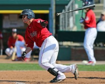 Christian Vazquez has both 4-hit games against New Hampshire.  (photo courtesy of Kelly O'Connor).