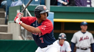 Xander Bogaerts hit his first Triple-A homer last night.