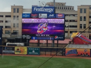 Brand new video board at Canal Park