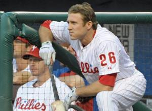 Chase Utley starts at 2B tonight for Reading, he's batting third (photo courtesy of USA Today)