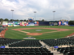 Pre-Game view at Arm & Hammer Park in Trenton, NJ.