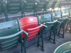 Ted Williams was born on this date in 1918...Here's the famous Red Chair at Fenway Park.