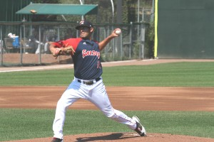 Mickey Pena makes his 8th start of the season for the Sea Dogs this afternoon. (photo courtesy of Rick Rosenfeld).