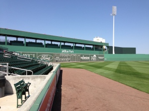 View of the Green Monster at JetBlue Park in Ft. Myers.