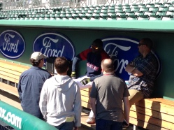 David Ortiz holding court at JetBlue Park