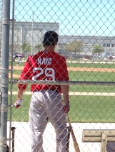 Daniel Nava played in the Triple-A game on Wednesday.