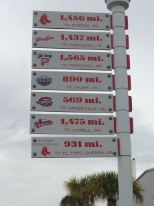 Very cool sign near the minor league fields.