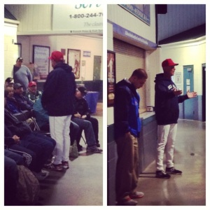 Sea Dogs held their Little League Coaches Clinic before today's game