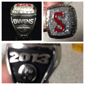 2013 Salem Red Sox Championship Ring courtesy of Henry Owens.