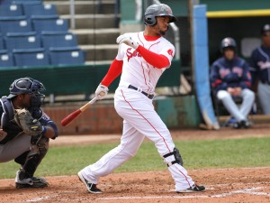 Henry Ramos is has hit safely in 20 of his last 23 games: 35-for-91 (.385)...(Photo by Jillian Souza)