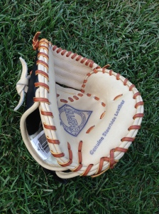 This small catcher's glove helps sharpen receiving skills.