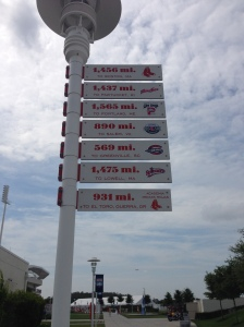 Very cool sign at Jet Blue Park.