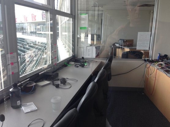 Red Sox Radio Booth at jetBlue Park.