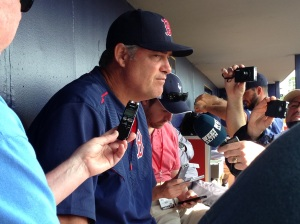 Red Sox Manager John Farrell telling the media Christian Vazquez is unlikely for Opening Day.