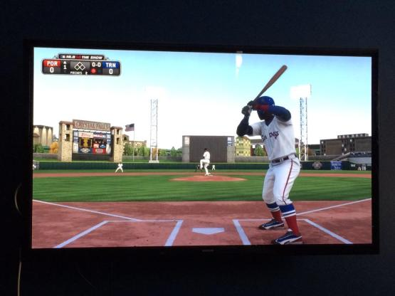 MLB the Show 15 is out...thanks to Andrea @DreGove for a screenshot playing as the Portland Sea Dogs.