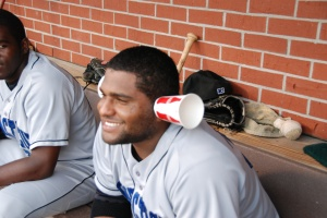 Sandoval back in his days in the Eastern League. He's working on his listening skills.