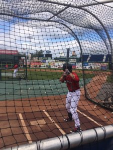 Andrew Benintendi taking BP